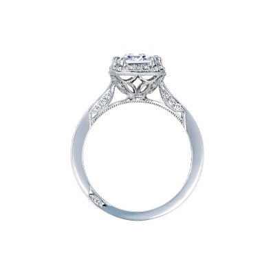 Tacori 2646-35EC White Gold Emerald Cut Engagement Ring side