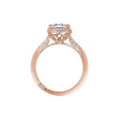 Tacori 2646-35EC85X65-PK Rose Gold Emerald Cut Engagement Ring side