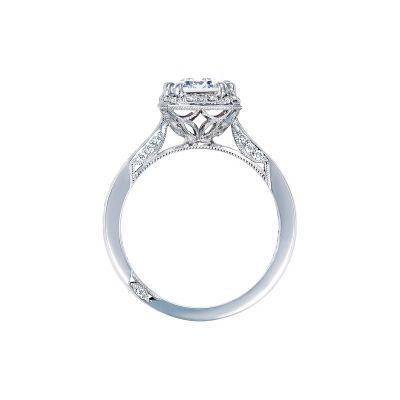 Tacori 2646-35EC85X65 Platinum Emerald Cut Engagement Ring side