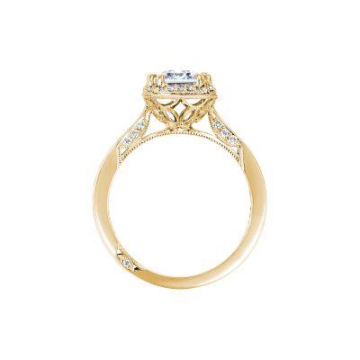 Tacori 2646-35EC85X65-Y Yellow Gold Emerald Cut Engagement Ring side