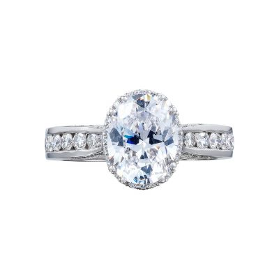 Tacori 2646-35OV9X7 Dantela Platinum Oval Engagement Ring