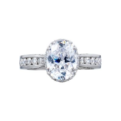 Tacori 2646-35OV9X7W Dantela White Gold Oval Engagement Ring