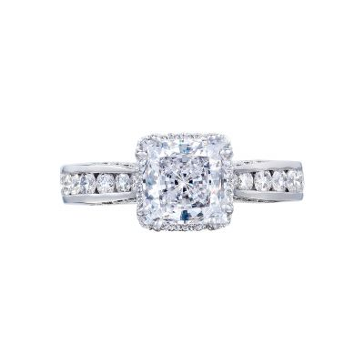 Tacori 2646-35PR65 Dantela Platinum Princess Cut Engagement Ring