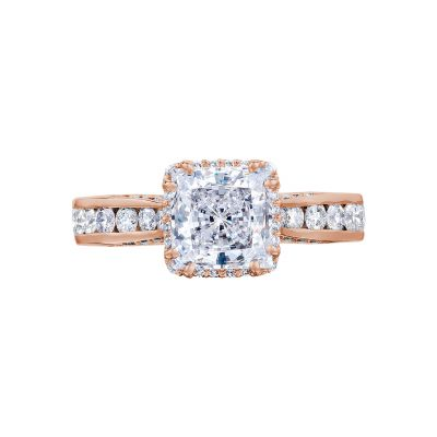 Tacori 2646-35PR65-PK Dantela Rose Gold Princess Cut Engagement Ring