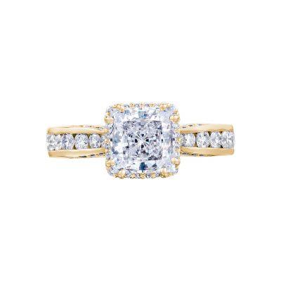 Tacori 2646-35PR65-Y Dantela Yellow Gold Princess Cut Engagement Ring