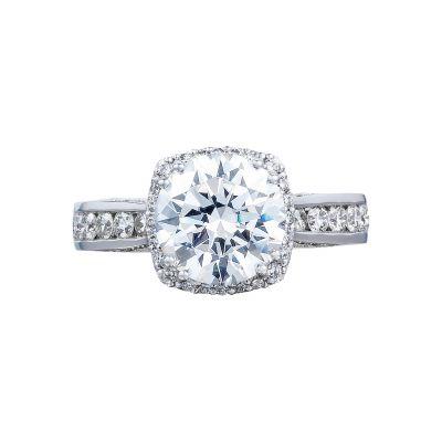 Tacori 2646-35RDC Dantela White Gold Round Engagement Ring