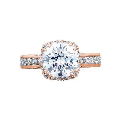Tacori 2646-35RDC8-PK Dantela Rose Gold Round Engagement Ring