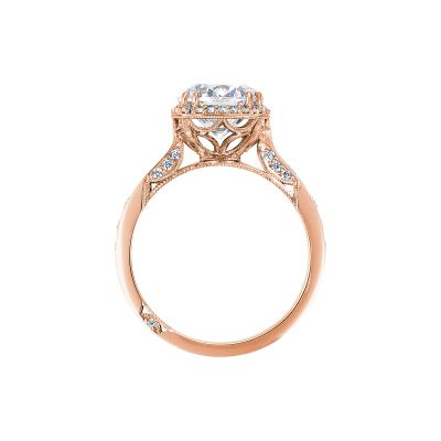 Tacori 2646-35RDC8-PK Rose Gold Round Engagement Ring side