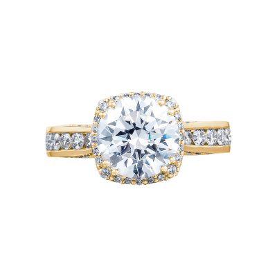 Tacori 2646-35RDC8-Y Dantela Yellow Gold Round Engagement Ring