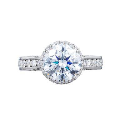 Tacori 2646-35RDR Dantela White Gold Round Engagement Ring