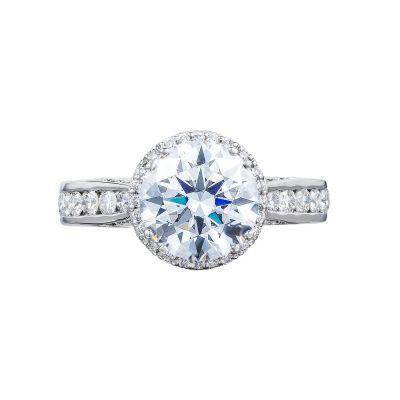 Tacori 2646-35RDR8 Dantela Platinum Round Engagement Ring