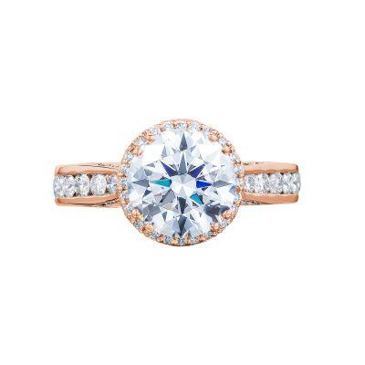 Tacori 2646-35RDR8-PK Dantela Rose Gold Round Engagement Ring