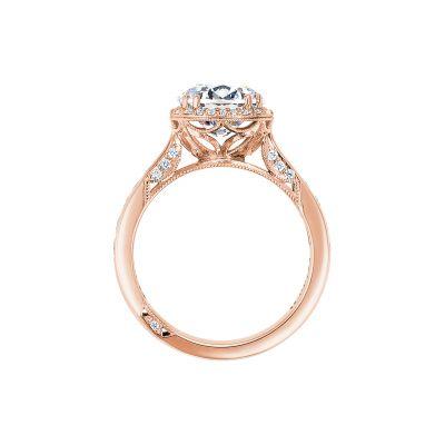 Tacori 2646-35RDR8-PK Rose Gold Round Engagement Ring side