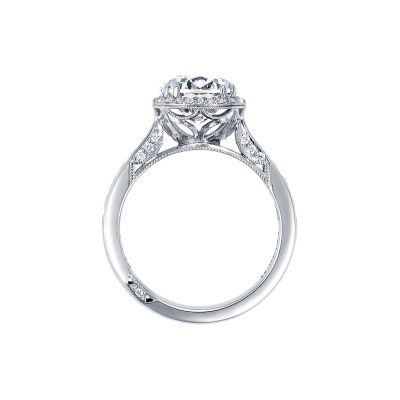 Tacori 2646-35RDR8 Platinum Round Engagement Ring side