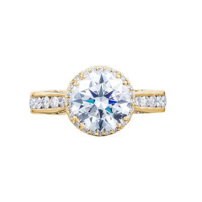 Tacori 2646-35RDR8-Y Dantela Yellow Gold Round Engagement Ring