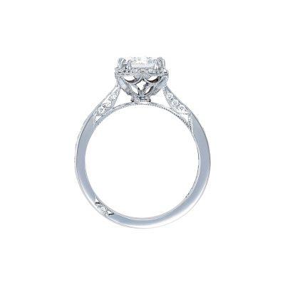 Tacori 2646-3EC White Gold Emerald Cut Engagement Ring side