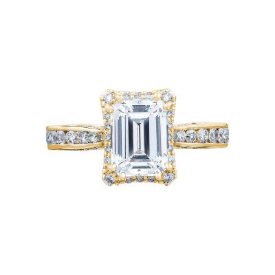 Tacori 2646-3EC75X55-Y Dantela Yellow Gold Emerald Cut Engagement Ring
