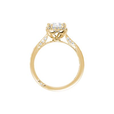 Tacori 2646-3EC75X55-Y Yellow Gold Emerald Cut Engagement Ring side