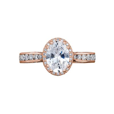 Tacori 2646-3OV85X65-PK Dantela Rose Gold Oval Engagement Ring