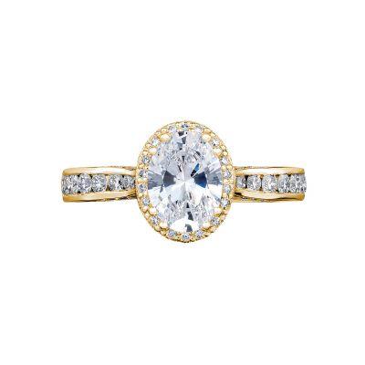 Tacori 2646-3OV85X65-Y Dantela Yellow Gold Oval Engagement Ring