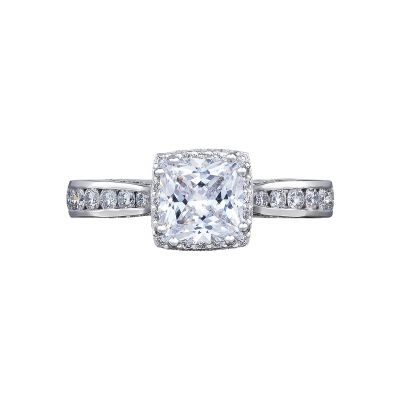 Tacori 2646-3PR6 Dantela Platinum Princess Cut Engagement Ring