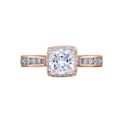 Tacori 2646-3PR6-PK Dantela Rose Gold Princess Cut Engagement Ring
