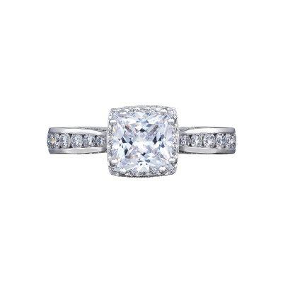 Tacori 2646-3PR6-W Dantela White Gold Princess Cut Engagement Ring