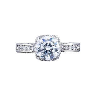 Tacori 2646-3RDC Dantela White Gold Round Engagement Ring