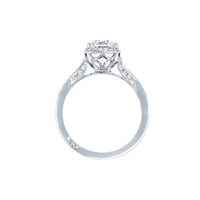 Tacori 2646-3RDC7 Platinum Round Engagement Ring side