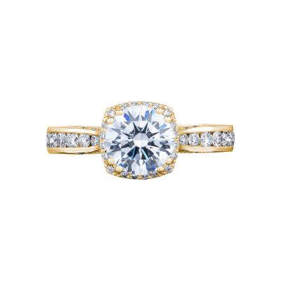 Tacori 2646-3RDC7-Y Dantela Yellow Gold Round Engagement Ring