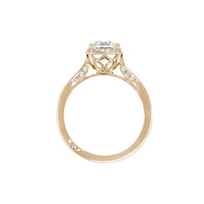 Tacori 2646-3RDC7-Y Yellow Gold Round Engagement Ring side