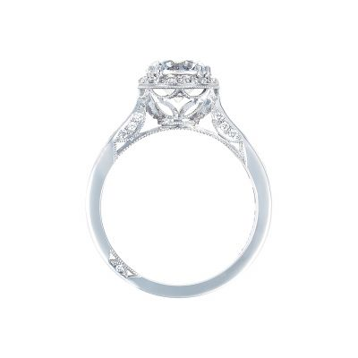 Tacori 2646-3RDR White Gold Round Engagement Ring side