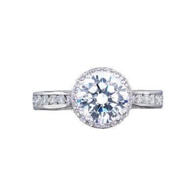 Tacori 2646-3RDR7 Dantela Platinum Round Engagement Ring