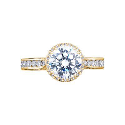 Tacori 2646-3RDR7-Y Dantela Yellow Gold Round Engagement Ring