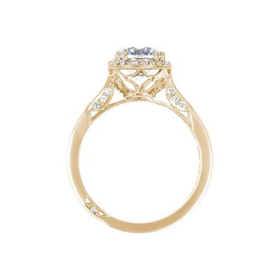 Tacori 2646-3RDR7-Y Yellow Gold Round Engagement Ring side