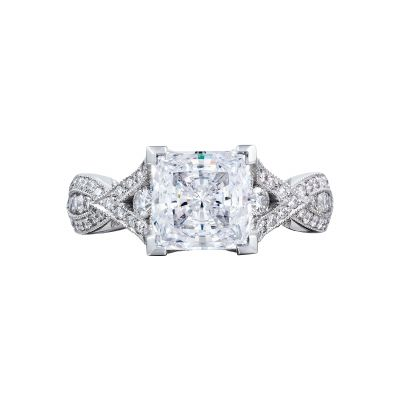 Tacori 2647PR Ribbon White Gold Princess Cut Engagement Ring
