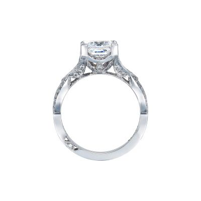 Tacori 2647PR White Gold Princess Cut Engagement Ring side