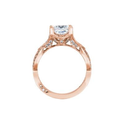 Tacori 2647PR7-PK Rose Gold Princess Cut Engagement Ring side