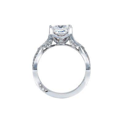 Tacori 2647PR7 Platinum Princess Cut Engagement Ring side