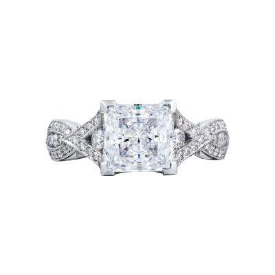 Tacori 2647PR7 Ribbon Platinum Princess Cut Engagement Ring