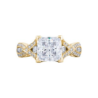Tacori 2647PR7-Y Ribbon Yellow Gold Princess Cut Engagement Ring
