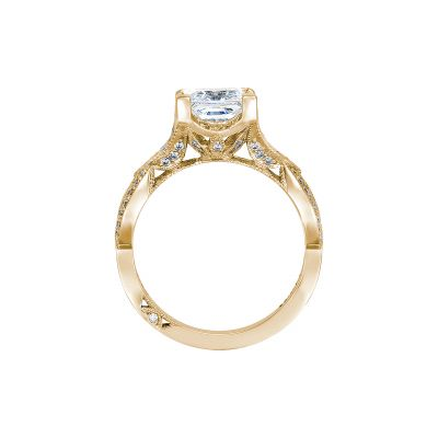 Tacori 2647PR7-Y Yellow Gold Princess Cut Engagement Ring side