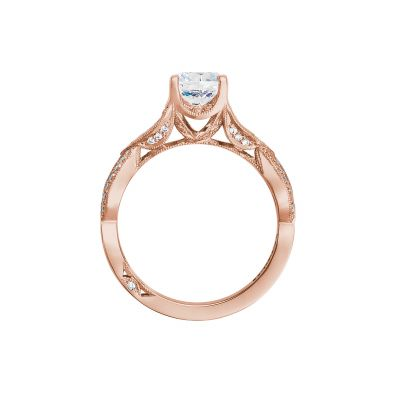Tacori 2647RD65-PK Rose Gold Round Engagement Ring side