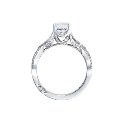 Tacori 2647RD65 Platinum Round Engagement Ring side
