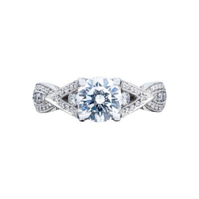 Tacori 2647RD65 Ribbon Platinum Round Engagement Ring