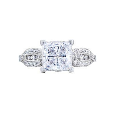Tacori 2648PR Ribbon White Gold Princess Cut Engagement Ring