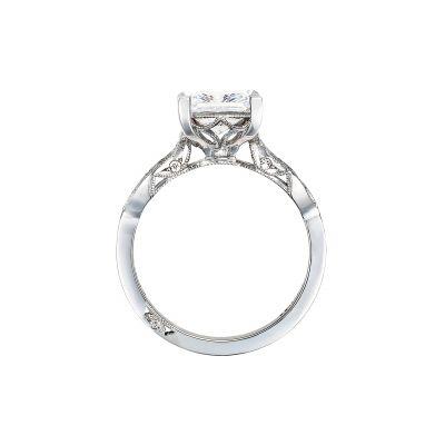 Tacori 2648PR White Gold Princess Cut Engagement Ring side