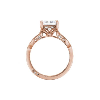 Tacori 2648PR55-PK Rose Gold Princess Cut Engagement Ring side