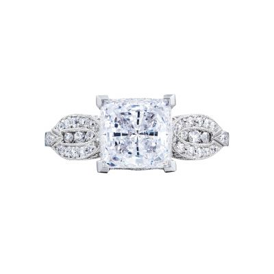 Tacori 2648PR55 Ribbon Platinum Princess Cut Engagement Ring