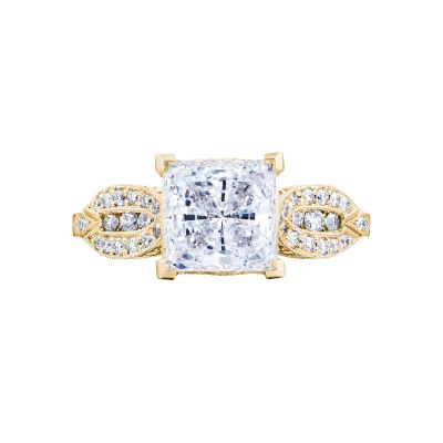 Tacori 2648PR55-Y Ribbon Yellow Gold Princess Cut Engagement Ring